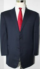 Hickey Freeman Hand Tailored Blue Side Vented 2 Button Wool Suit 44 R 38 28
