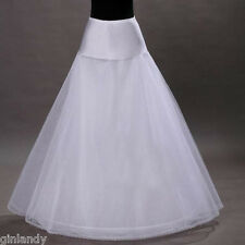 WHOLESALE NEW WHITE ONE-HOOP BRIDAL WEDDING GOWN CRINOLINE PETTICOAT UNDERSKIRT
