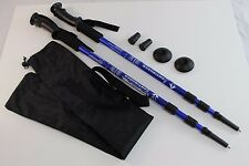 One Pair Trekking Walking Hiking Sticks Poles Alpenstock anti-shock Bag Blue
