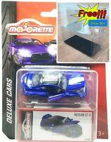 Majorette Nissan GT-R GTR R35 Chrome Blue Deluxe Cars 1:61 214G Free Display Box