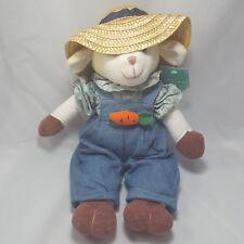 Nwt Easter Gardener Sheep Plush 18in Lamb Overalls Spring Garden Stuffed Toy