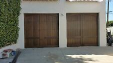Caprice Design - [16' x 7'] Spanish Style Custom Mahogany Wood Garage Door