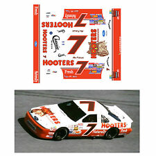 Alan Kulwicki 1992-93 #7 Hooters 1/64 scale decal AFX Tyco Lifelike Autoworld