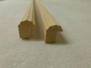 (a135)  2Stk 100cm Bilderrahmen Abachi 16x20mm Bilderleiste Holzleiste