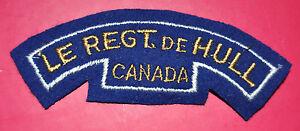 Canada Le Regiment de Hull regimental shoulder title Canadian badge