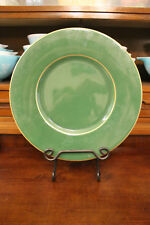 Este CE Made In Italy Large Green Gold Serving Platter Plate Tray Round 12 3/4""