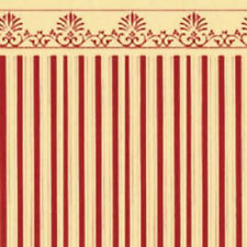 Dolls House Miniature 1:12th Scale Majestic Red/Cream Wallpaper