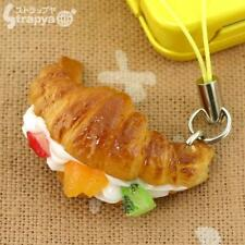 Japanese Food Sample Collection Cell Phone Strap Charm (Croissant Fruit)