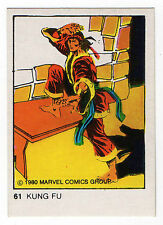 1980 Spanish Marvel Comics Superhero Terrabusi Trade Card  #61 Shang-Chi Kung Fu
