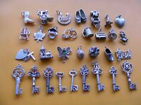 P VINTAGE STERLING SILVER CHARM 21ST KEY TANKARD BUS HEART SLIPPERS FAIRY BOOT