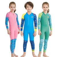 Wetsuit Rashguard Kids Diving Suit Long Sleeve UV Protection Surfing Swimwear US