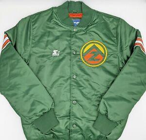 Arizona Hotshots Satin Starter Green Bomber Jacket LS9G0083 Men's Size XL AAF