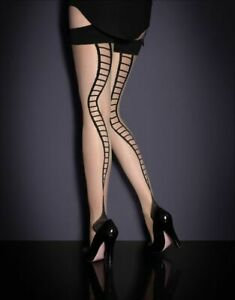 Agent Provocateur snake ladder Stocking size 2/B nude