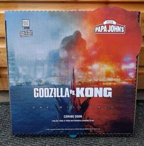 GODZILLA Vs KONG 2021 MOVIE PAPA JOHN'S LIMITED EDITION PIZZA BOX *UK EXCLUSIVE*