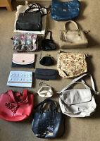 Mega Bundle Of 14x Handbags, Clutch, Shoulder Leather, Patterned, Cross Body Mix