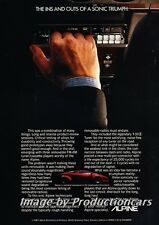 1987 Lamborghini Countach Alpine Audio Advertisement Print Art Car Ad J756