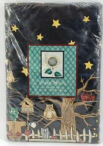 Debbie Mumm Frankie & Broomhilda Flannel Backed Vinyl Tablecloth 60x84 Halloween