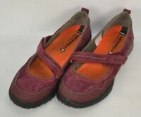 Merrell Zinfandel Suede Leather Mary Jane Shoes Womens Size 8 M Burgandy