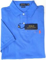 NEW $89 Polo Ralph Lauren Short Sleeve Classic Fit Shirt Mens Blue Mesh NWT