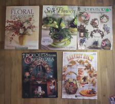5 Bk Every Season Floral Silk Flower Arranging Bouquets Nosegays Swag Wreath