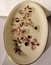 Vintage Hand Painted Zsolnay Hungary Porcelain Multipurpose Lemon Olive Pit Gold