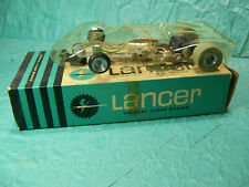 Ferrari P4 Can Am, vintage 1/24 scale slot car, NOS Lancer body, Dynamic chassis