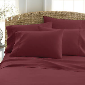 6 PIECE DEEP POCKET 2100 COUNT HOME COLLECTION SERIES ULTRA SOFT BED SHEET SET