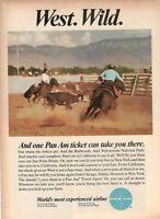 1967 Original Advertising' Vintage Pan-Am American Airways West Wild