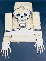 Vintage Halloween Hanging Paper Skeleton w/ Honeycomb LG nicer