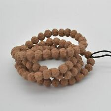 108 Natural Rudraksha Seed Near Round Mala Prayer Beads - 7mm - 9mm
