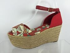 Tory Burch Womens Red/Multi Color Sandals 7 M