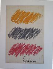 Pastel gras  de Salvatore Emblema, sur papier signé circa1970 27x39cm