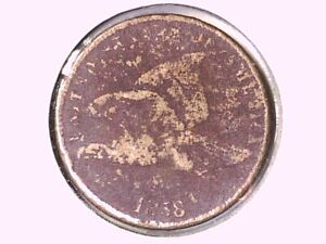 1858 Flying Eagle Cent Genuine Raw Ungraded 01088