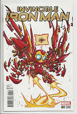 Invincible Iron Man #1 Skottie Young Variant Avengers Bendis All New 2015 Nm