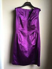 Robert Rodriguez 8 purple satin sleeveless dress EUC modern back zip womans