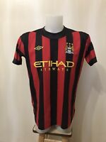 "Manchester City 2011/2012 away Sz 44"" Umbro football shirt jersey soccer maillot"
