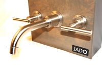 Jado Widespread Tub Faucet Lever Handles Satin Nickel STORE DISPLAY Wall Mount