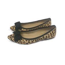 Ellen Tracy Fawn Calf Hair  Leather Cheetah Print Flats Women's Size 8.5 M