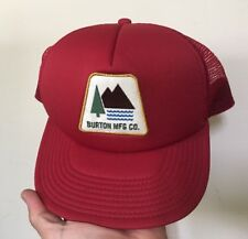 Unused BURTON MFG CO. 1977 Label TRUCKER HAT Snapback SNOWBOARD Mountain Patch