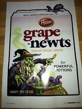 BRAND NEW FIRST SERIES MINT WACKY PACKAGES GLOSSY POSTERS ART GRAPE NEWTS #10