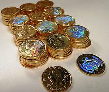 2006 SOUTH DAKOTA GOLD STATE QUARTERS W/ HOLOGRAM~100 PIECES~MOUNT RUSHMORE