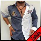 Chemise À Manches Longues Homme Blanc Fête à carreaux Polo M L XL XXL NEUF
