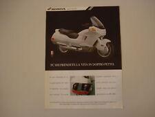 advertising Pubblicità 1991 MOTO HONDA PC 800 PACIFIC COAST
