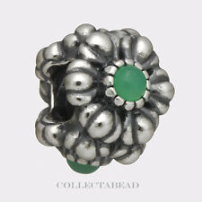Authentic Pandora Sterling Silver Chrysoprase May Birthday Blooms Bead 790580CH