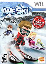 We Ski (Nintendo Wii, 2008) Skiing Winter Sports Olympics Rare BRAND NEW SEALED