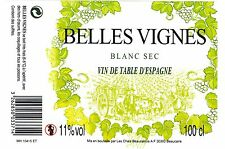 Etiquette de vin - Wine Label - BELLES VIGNES