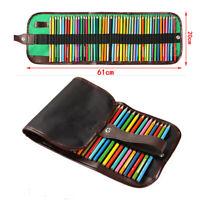 72 sticks canvas color pencil curtain Art Drawing color pencil canvas pen bagM