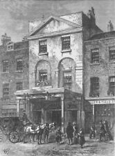 LAMBETH. Entrance to Astley's Theatre, in 1820. London c1880 old antique print