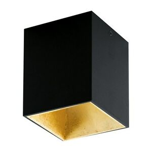 Spotlight Ceiling To LED 3,3w Modern Black And Gold Coll. Glo 94497 Polasso