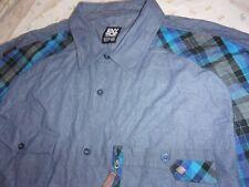 ENYCE Sean Combs Co. MEN Shirt size 5X Button Down 100% Cotton Long Sleeve (B51)